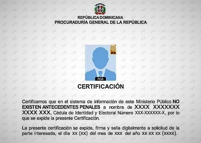 Certificado de buena conducta RD